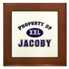 Property of jacoby Framed Tile
