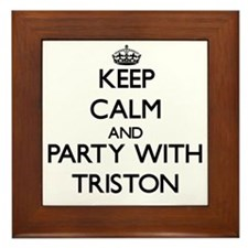 Keep Calm and Party with Triston Framed Tile