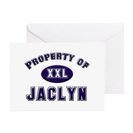 Property of jaclyn Greeting Cards (Pk of 10)