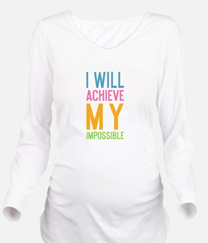 Funny Office Long Sleeve Maternity T-Shirt
