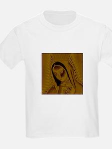 Virgen de Guadalupe - Gold Kids T-Shirt