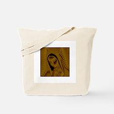 Virgen de Guadalupe - Gold Tote Bag