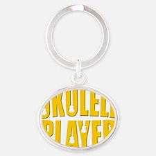 ukulele uke player Oval Keychain