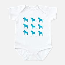Swedish dALA HORSE Infant Bodysuit