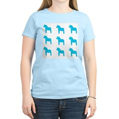 Swedish Dala Horse Women's Pink T-Shirt