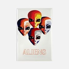 The Aliens_final_dark Rectangle Magnet
