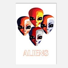 The Aliens_final_dark Postcards (Package of 8)