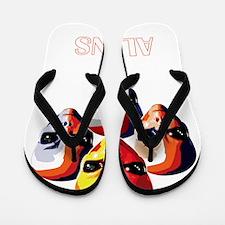 The Aliens_final_dark Flip Flops