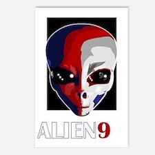 Alien99_black Postcards (Package of 8)
