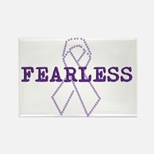 Fearless_Purple Rectangle Magnet