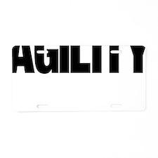 Border Collie Agility Stick Aluminum License Plate
