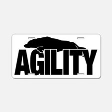 Border Collie Agility Stick Aluminum License Plate