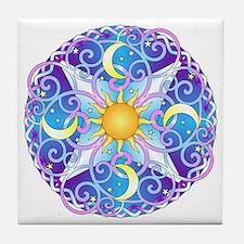 Celestial Mandala Tile Coaster