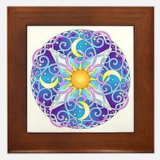 Celestial Mandala Framed Tile