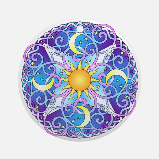 Celestial Mandala Round Ornament