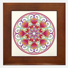 Heart Mandala Framed Tile