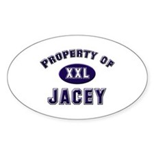 Property of jacey Oval Decal