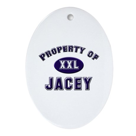 Property of jacey Oval Ornament