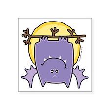 "Baby Vampire Bat in Moonlig Square Sticker 3"" x 3"""