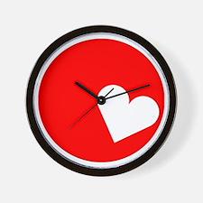 Sun White Heart Wall Clock