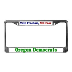 Oregon Democrats License Plate Frame