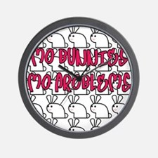 mo bunnies mo problems Wall Clock
