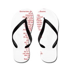 out of the chaos Flip Flops