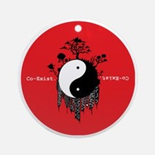 Co-Exist Round Ornament