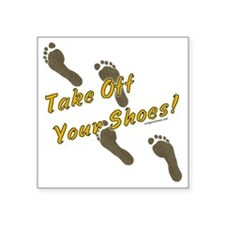 """takeoffshoes2 Square Sticker 3"""" x 3"""""""