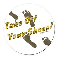 takeoffshoes2 Round Car Magnet