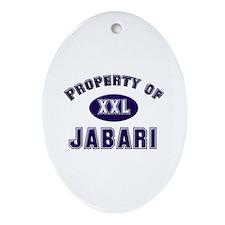 Property of jabari Oval Ornament