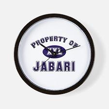 Property of jabari Wall Clock