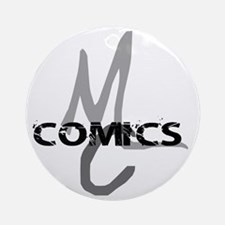 MC_Comics_Logo_Shirt_flat Round Ornament