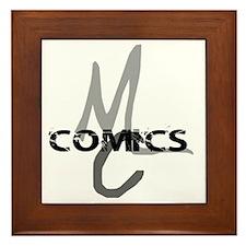 MC_Comics_Logo_Shirt_flat Framed Tile