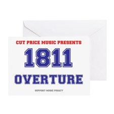 CUT PRICE MUSIC - 1811 OVERTURE Greeting Card