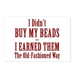 I Didn't Buy My Beads Postcards (Package of 8)