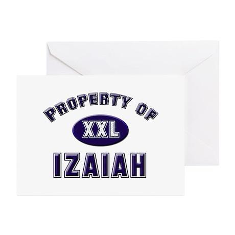 Property of izaiah Greeting Cards (Pk of 10)
