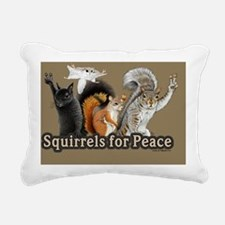177_600squirrels for pea Rectangular Canvas Pillow