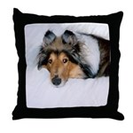 Relaxed Collie Throw Pillow
