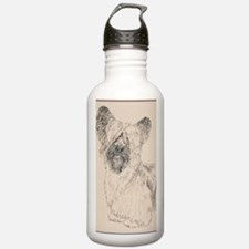 Skye_Terrier_KlineSq Sports Water Bottle