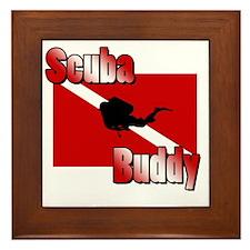 Scuba Buddy Framed Tile
