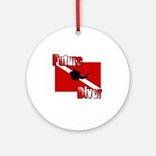 Future Diver Round Ornament