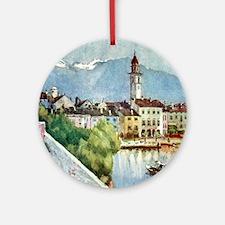 Ascona_Lake_Maggiore_Switzerland_19 Round Ornament