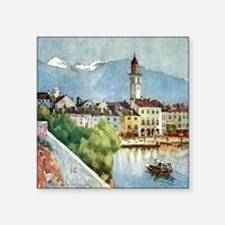 "Ascona_Lake_Maggiore_Switze Square Sticker 3"" x 3"""