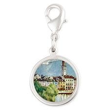 Ascona_Lake_Maggiore_Switzerla Silver Round Charm
