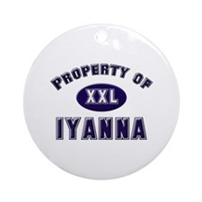 Property of iyanna Ornament (Round)
