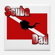 Scuba Dad Tile Coaster