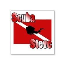 "Scuba Steve Square Sticker 3"" x 3"""