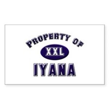 Property of iyana Rectangle Decal