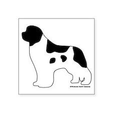 "Landseer_logo Square Sticker 3"" x 3"""